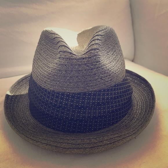 Vintage Mens Straw Fedora Hat. M 5ab026d0caab44d43f165815 7dc05d2431d